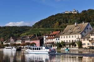 Stein am Rhein mit Blick auf die Stadt und die Burg